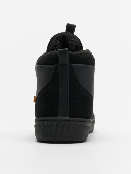 Djinns Sneakers Trek High Fur P-Leather black