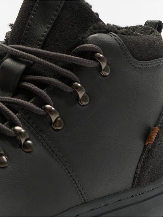 Djinns Sneakers Trek High Fur P-Leather gray