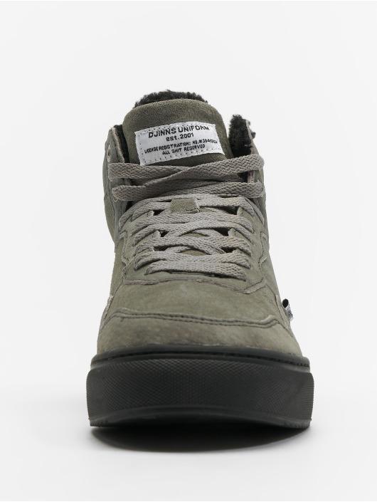 Djinns Sneakers Highwaik Fur grey