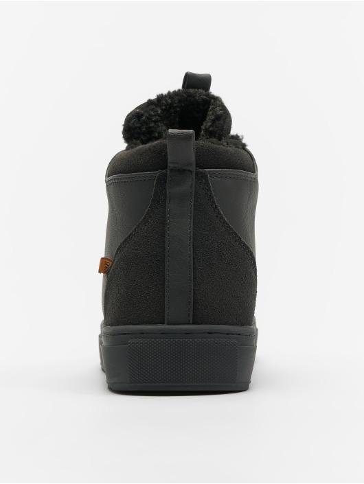 Djinns Sneakers Trek High Fur P-Leather grey