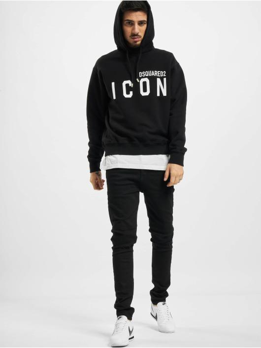 Dsquared2 Bluzy z kapturem Icon Hooded czarny