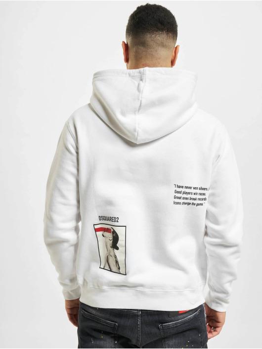 Dsquared2 Felpa con cappuccio Icon bianco