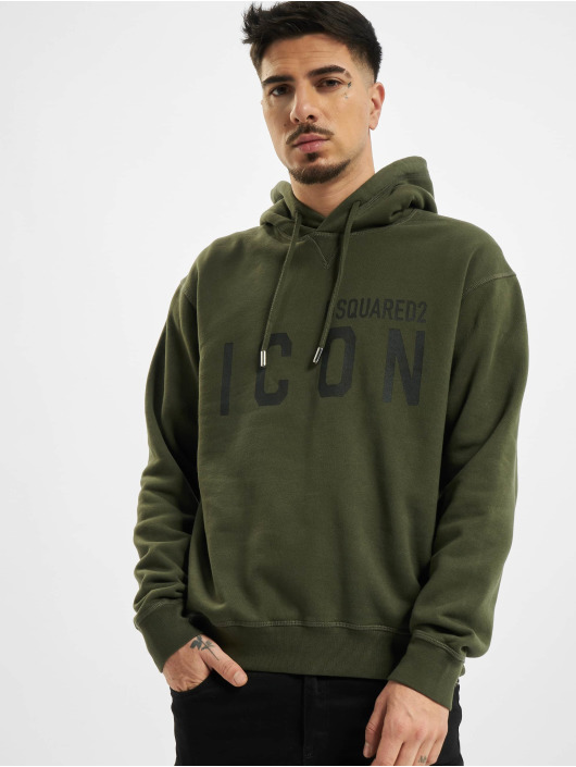 Dsquared2 Hoodie Icon Hooded grön