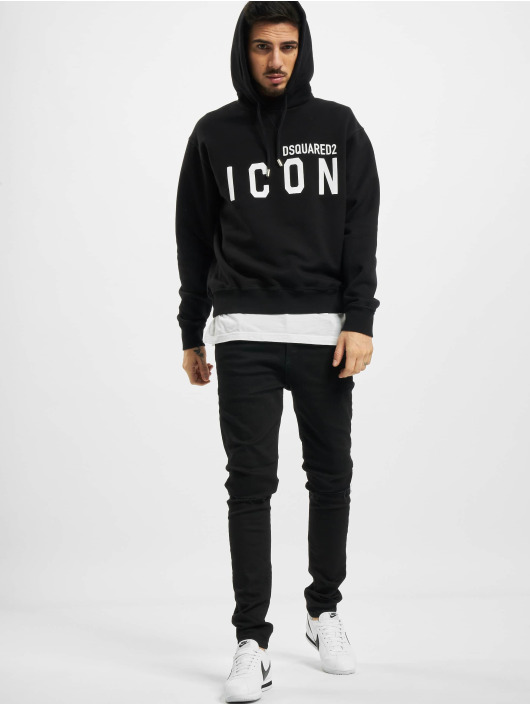Dsquared2 Hoodies Icon Hooded čern