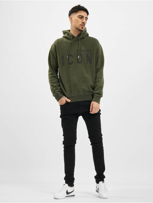 Dsquared2 Hoodies Icon Hooded zelený