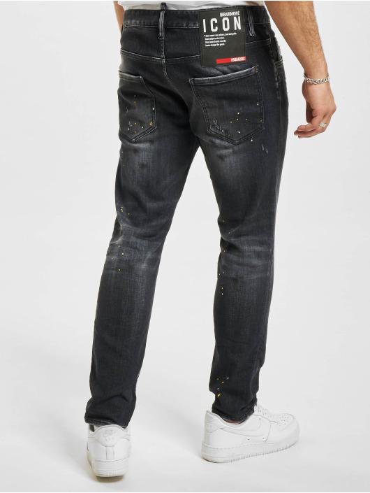 Dsquared2 Slim Fit Jeans Icon Skater zwart