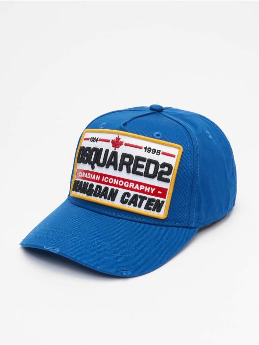 Dsquared2 Snapback Cap Canadian Iconography blau