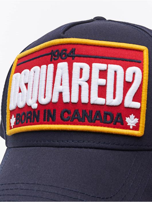 Dsquared2 snapback cap Born In Canada blauw