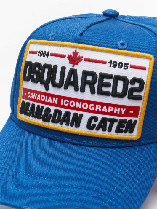 Dsquared2 Snapback Cap Canadian Iconography blu