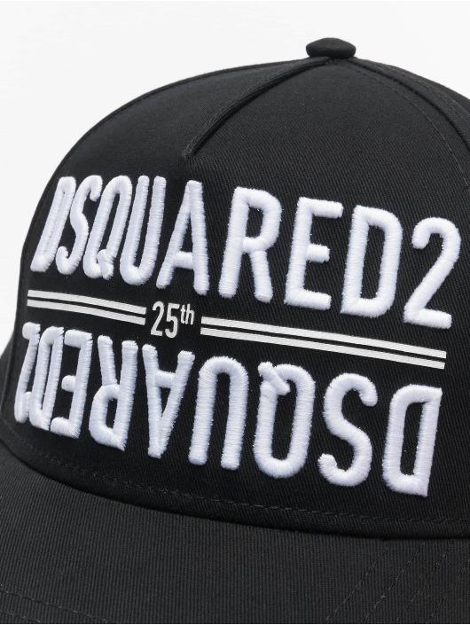 Dsquared2 Snapback Caps 25th Dsquared2 Baseball czarny