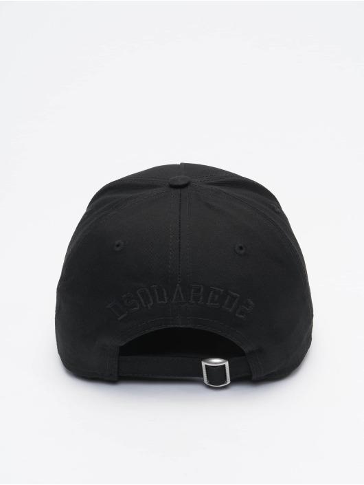 Dsquared2 Snapback Caps DC Crest Baseball musta