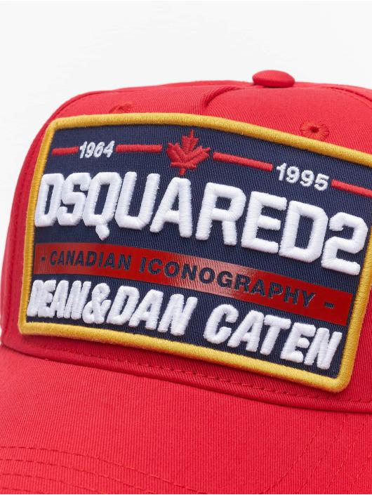 Dsquared2 Snapback Caps Canadian Iconography punainen