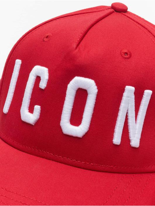 Dsquared2 Snapback Caps Icon punainen