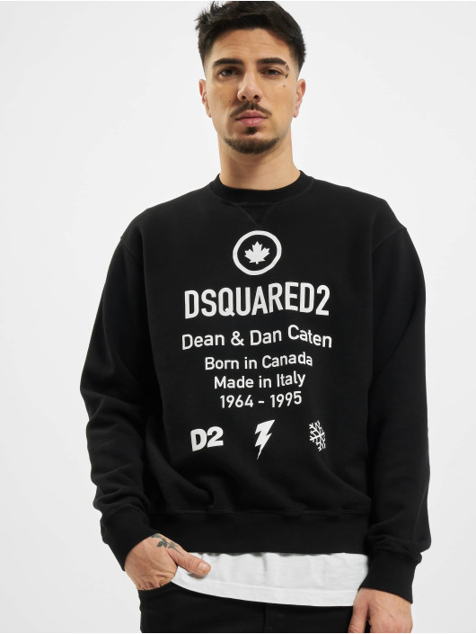 Dsquared2 Svetry Leaf čern