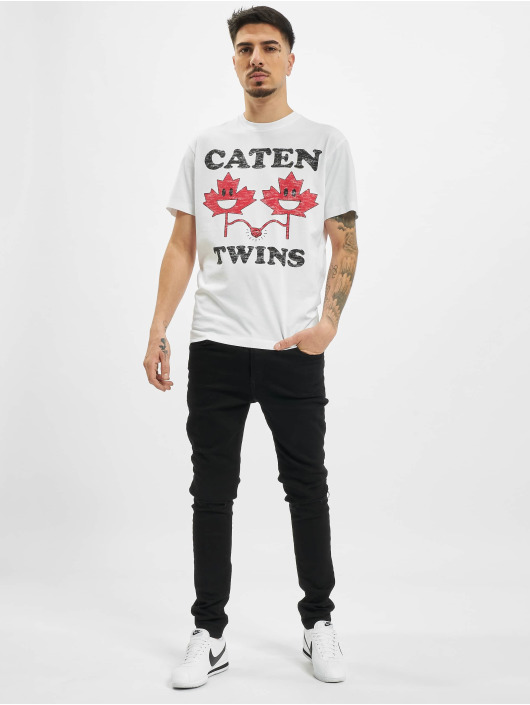 Dsquared2 T-paidat Caten Twins valkoinen