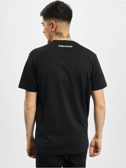 Dsquared2 T-shirt Caten Twins nero