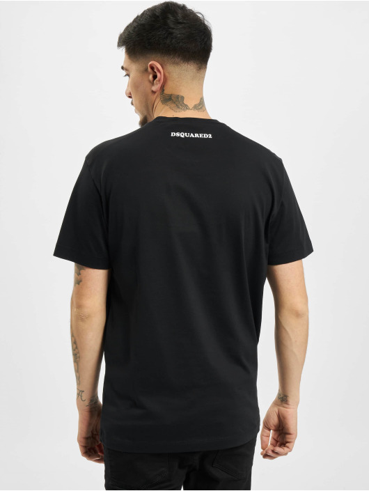 Dsquared2 T-Shirt Caten Twins noir