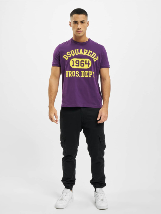 Dsquared2 t-shirt 1964 paars