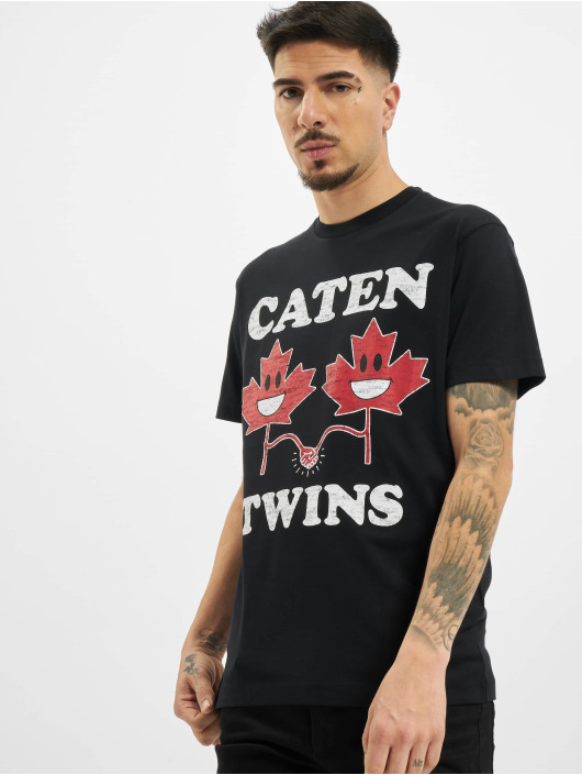 Dsquared2 T-shirt Caten Twins svart