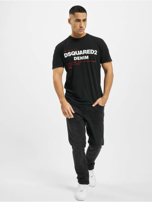 Dsquared2 t-shirt Denim zwart