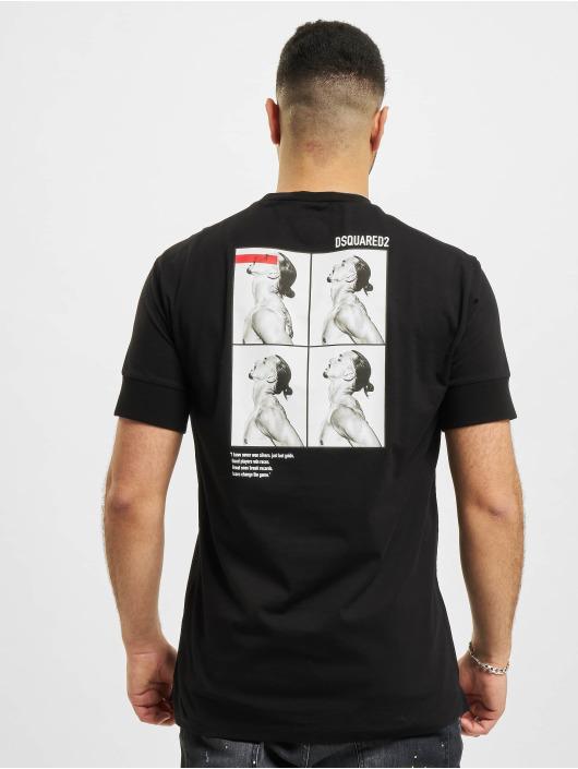 Dsquared2 t-shirt Icon zwart