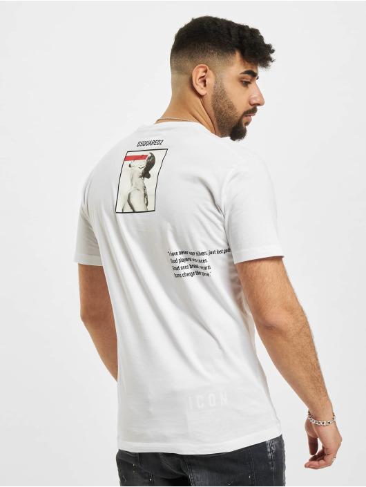 Dsquared2 T-shirts Icon Ibra hvid