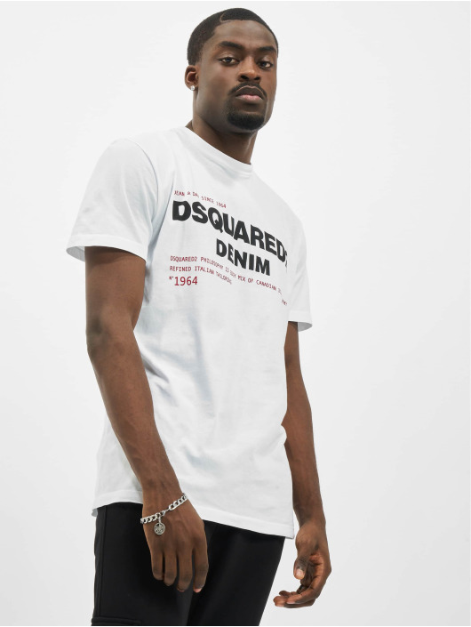 Dsquared2 T-Shirty Denim bialy