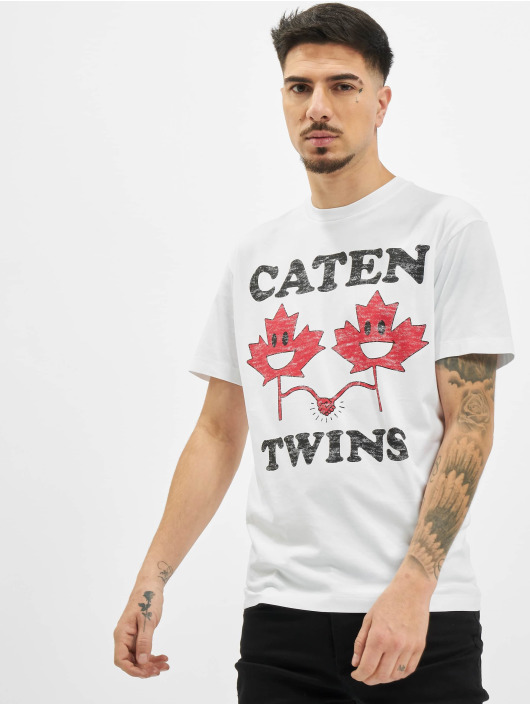 Dsquared2 T-Shirty Caten Twins bialy