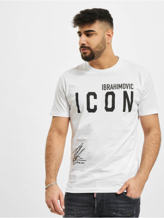 Dsquared2 T-Shirty Icon Ibra bialy