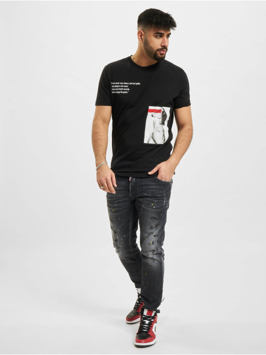 Dsquared2 T-Shirty Icon Change The Game czarny
