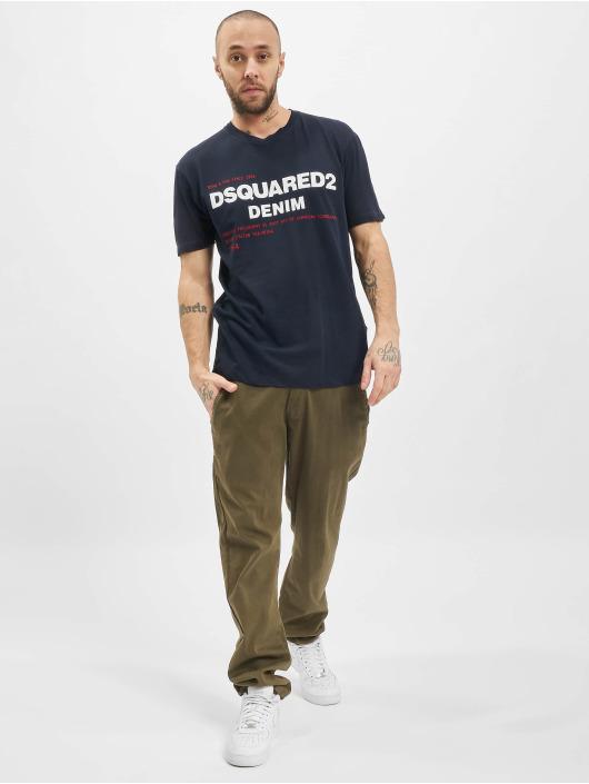 Dsquared2 T-Shirty Denim niebieski
