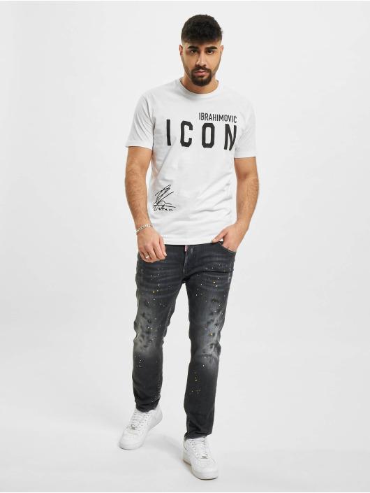 Dsquared2 T-skjorter Icon Ibra hvit
