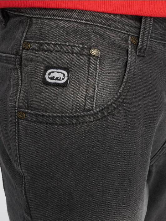 Ecko Unltd. Loose Fit Jeans Globe Grid schwarz