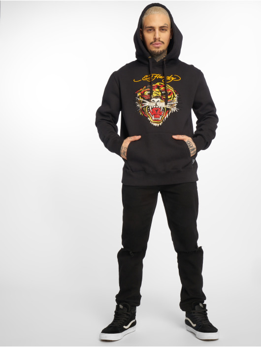 Noir Ed Hardy Capuche Tbxwg Tiger Sweat qwUHCP