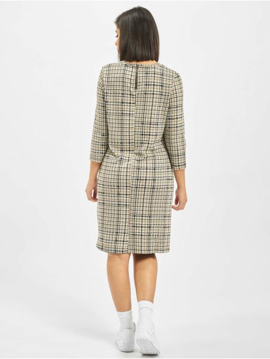 Eight2Nine Šaty Midi Dress Check hnedá
