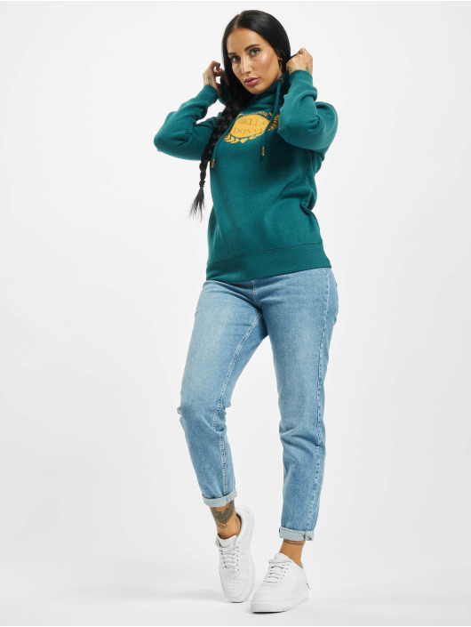 Eight2Nine Bluzy z kapturem Bella Donna zielony