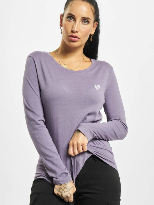 Eight2Nine Camiseta de manga larga Eight púrpura