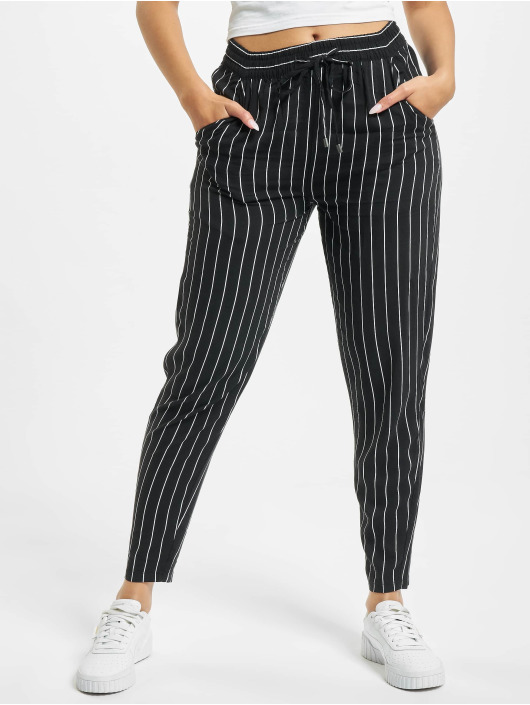 Eight2Nine Chinot/Kangashousut Pinstripe musta