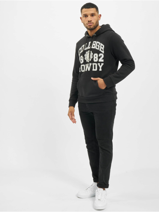 Eight2Nine Hoodie College svart