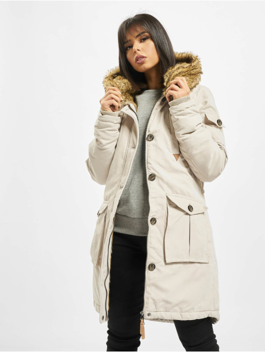 Eight2Nine Kabáty Fake Fur béžová