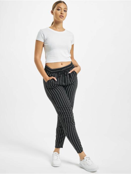 Eight2Nine Látkové kalhoty Pinstripe čern