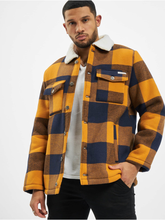 Eight2Nine Lightweight Jacket Checker brown