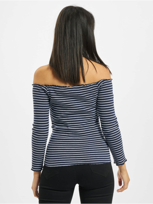 Eight2Nine Longsleeve 3/4 Off Shoulder blau