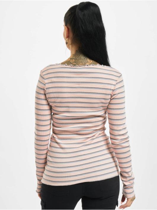 Eight2Nine Maglietta a manica lunga Double Stripe rosa chiaro