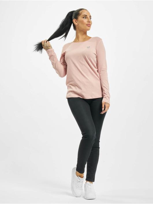 Eight2Nine Maglietta a manica lunga Eight rosa chiaro