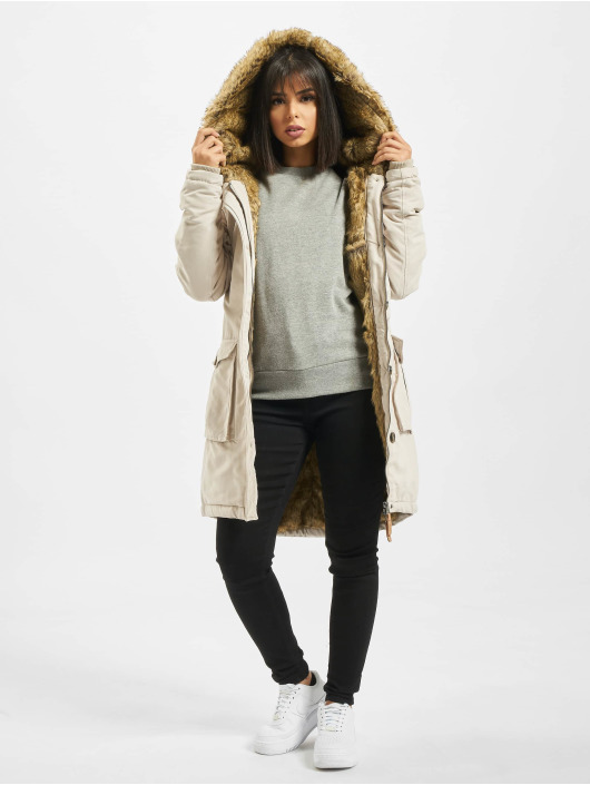 Eight2Nine Mantel Fake Fur beige