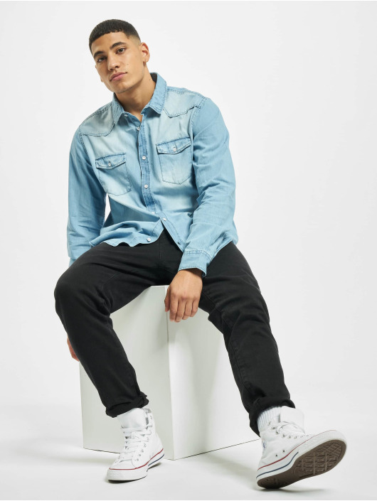 Eight2Nine overhemd Vintage blauw