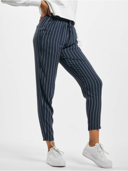 Eight2Nine Pantalon chino Pinstripe bleu
