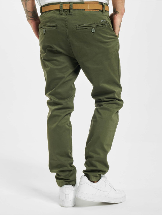 Eight2Nine Pantalon chino Sign vert