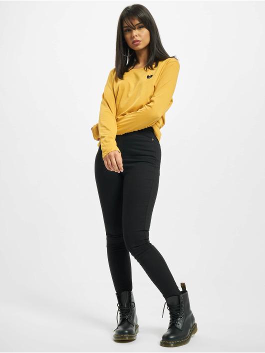Eight2Nine Pitkähihaiset paidat Eight keltainen